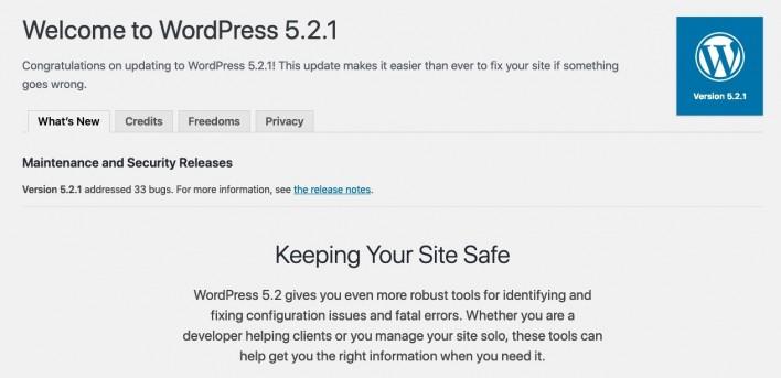 WordPress successful update!